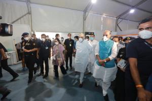 Shah, Rajnath, Kejriwal visit newly-created 1,000...