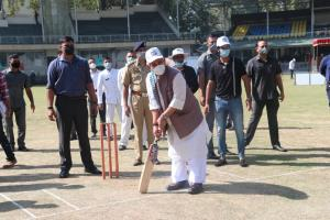 Lt Governor Manoj Sinha inaugurates T20 Police Pr...