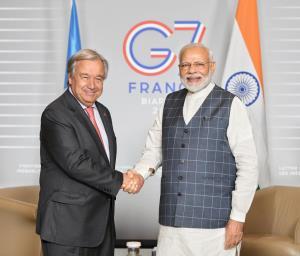 Modi meets UN Secy Gen at G7 in France