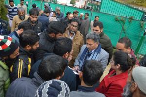 Advisor Ganai hears public deputations at Srinagar