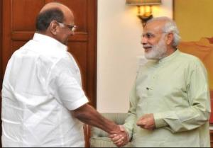 PM greets NCP leader Sharad Pawar on his 79th bir...