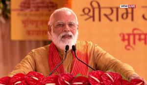 Modi becomes first PM to visit Ram Janmabhoomi, H...
