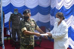DG CRPF visits group centre Jammu; rewards 6 pers...