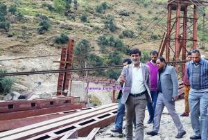 DDC Kishtwar inspects developmental works