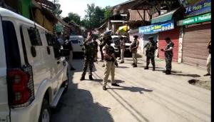 Terrorists open fire at police in Kulgam, civilia...