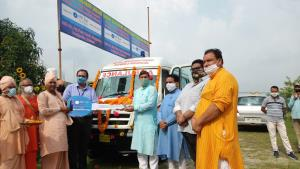 SBI dedicates ambulance to Bharat Sevashram Sangha