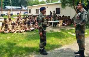 Maj Gen Airy visits NCC Training Camp Nagrota
