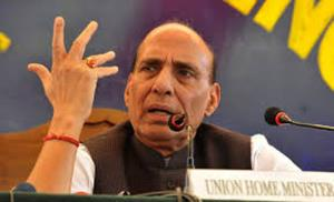 Union home minister Rajnath Singh reviews securit...