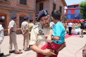 SSP Srinagar fights tears as he holds martyred co...