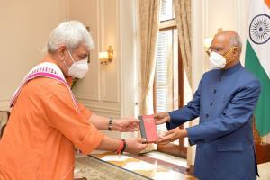 J&K LG calls on President Kovind, Vice President ...