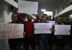 PDP protests at Civil Secretariat in Jammu, deman...