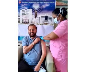 Prakash Javadekar receives first jab of Covid19 v...
