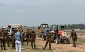 Tractor trolleys, tipper, JCBs seized for illegal...
