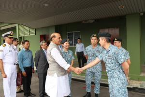 Rajnath Singh visits Sembawang Air Base