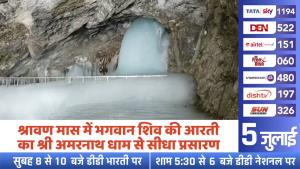 Amarnath Aarti to be telecast live on Doordarshan...