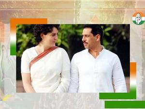 Give it your best: Robert Vadra congratulates wif...