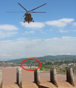 IAF rescues 4 fishermen stranded in Tawi river