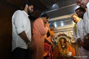 Uddhav offers prayers to family deity at temple i...