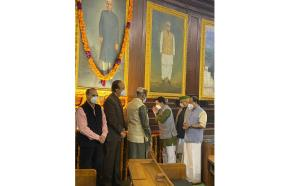 Parliamentarians pay tribute to India's first Pre...