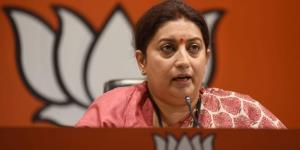 Smriti Irani attacks Opposition for supporting an...