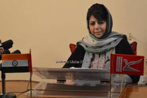 Mehbooba Mufti pays tributes to slain Army, Polic...