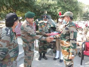 Maj Gen Airy visits NCC Training Camp at Nagrota