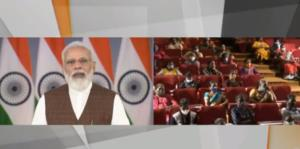 PM Modi interacts with beneficiaries of