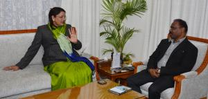 Union MoS for Tribal Affairs meets Lt Governor