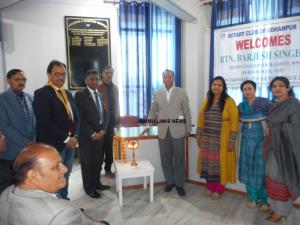 District Governor Udhampur Singhal visits Rotary ...