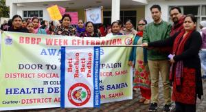 Week-long campaign under BBBP begins at Samba