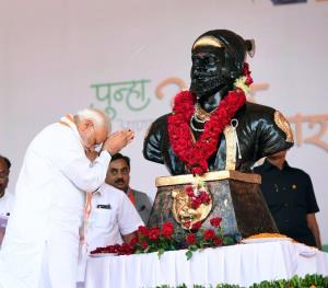 PM pays tributes to Chhatrapati Shivaji Maharaj o...