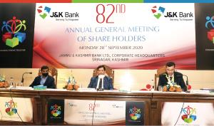 J&K Bank holds 82nd AGM of its shareholders