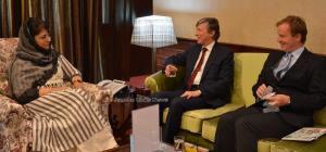 Belgian Ambassador calls on Mehbooba Mufti