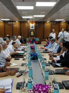 Nirmala Sitharaman addresses top Navy officials