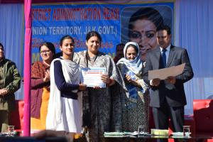 Smriti Irani holds public meetings at Reasi