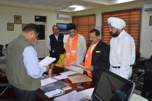 Union minister Jitendra Singh files nomination fr...