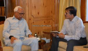 Advisor Kumar meets Governor