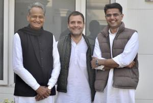 Rahul brokers peace between Gehlot, Pilot