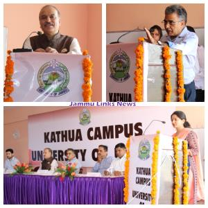 VC, JU interacts with students, faculty of Kathua...