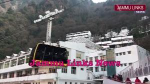 Helicopter, ropeway services at Vaishno Devi susp...