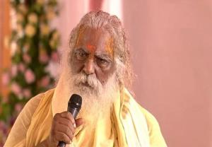 Chief of Ram temple trust Mahant Nritya Gopal Das...