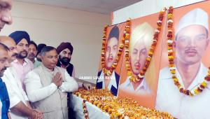BJP pays floral tributes to Bhagat Singh, Sukhdev...