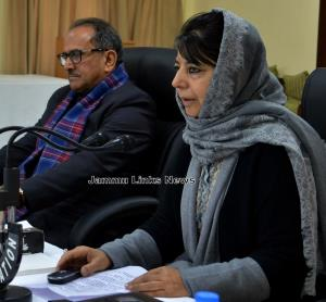 Unified Headquarters holds meet, Mehbooba Mufti c...