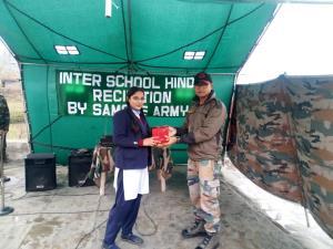 Army organises Hindi Recitation Competition