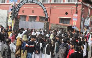 Students protest for revision of exam result