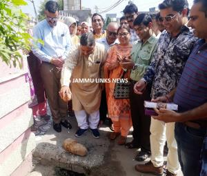 Sat Sharma starts construction works of deep drai...