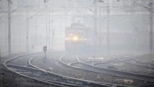 14 trains ruuning late due to low visibilty in no...