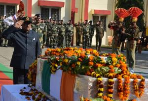 Dy CM pays homage to martyred solider