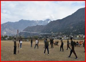Army holds friendly volleyball match