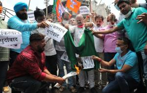 J&K BJP protests against killing of party leader